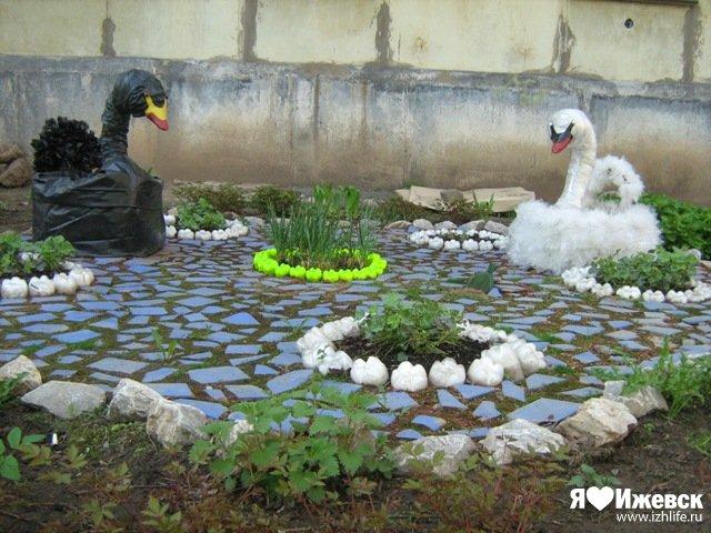 Как украсит двор своими руками фото