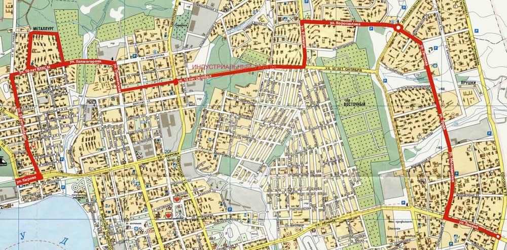 Схема маршрута №78