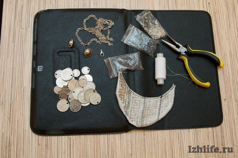 Как сделать удмуртское монисто из монет своими руками