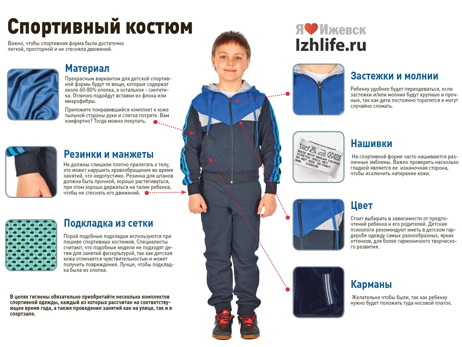 Основные требования к спортивной одежде