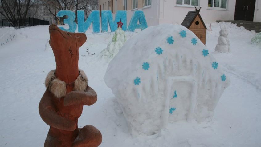 Гриб из снега как сделать