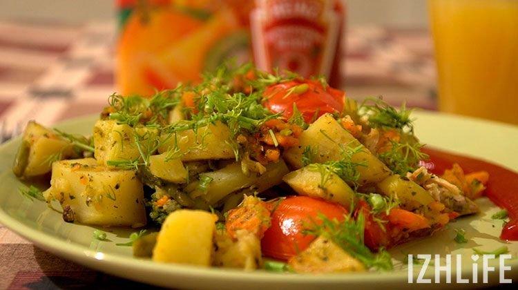 Как тушить кабачки с картошкой