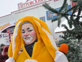 25 декабря у ТРК «Петровский» прошла репетиция Нового года