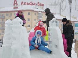В Новый год на Центральной площади Ижевска собралось 16 тысяч человек