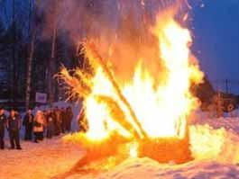 В Ижевске сожгли талисман Олимпийских игр 2014