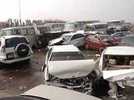 Из-за тумана на дороге в ОАЭ столкнулись 127 автомобилей
