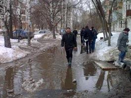 Рейтинг весенних луж в Ижевске: в списке новые улицы