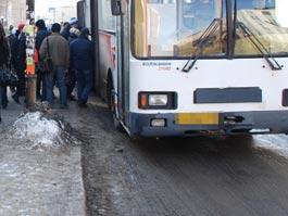 В Ижевске около университета автобус сбил девушку