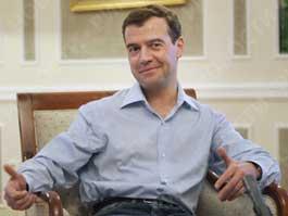 Видеоролик с танцующим Медведевым