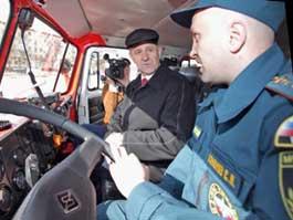 Спасателям Удмуртии подарили пожарные машины