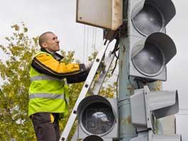 В Ижевске установили еще один светодиодный светофор