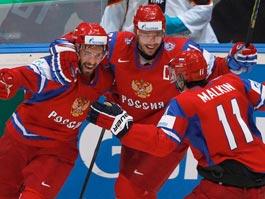 Сборная России по хоккею победила словаков