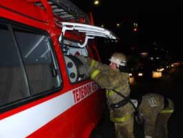 В Ижевске, поехав на вызов, пожарная машина «утонула» в грязи