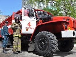 В Ижевске из-за пожара эвакуировали 12-этажный жилой дом, 2 человека пострадали