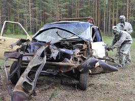 Под Ижевском взорвали фургон