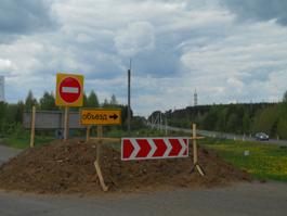 Объездная дорога трассы Ижевск – Воткинск – из-за пыли видимость снижается до нуля