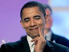Барак Обама застрял в воротах посольства