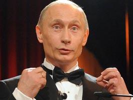 В Питере появились ангел с лицом Путина