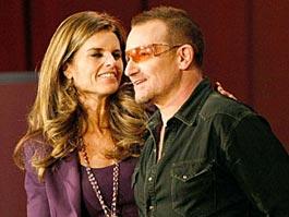Жена Шварценеггера утешилась в объятиях Боно из U2