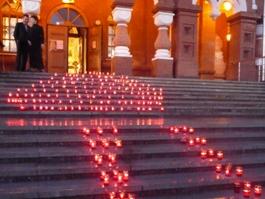 В Ижевске зажгли рекордное количество свечей
