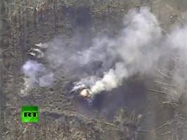 В Интернете появилось видео горящего арсенала в Пугачево, снятое с беспилотника