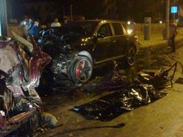В Ростове пьяный депутат на Porsche протаранил четыре автомобиля