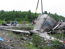 Под Петрозаводском разбился Ту-134, погибли 44 человека