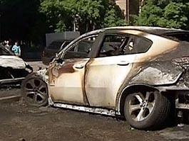 В Москве сгорели пять машин