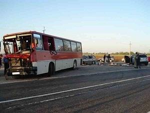 Около Анапы разбился автобус с туристами