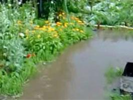 Последствия субботнего ливня в Ижевске: у жителей «Болота» смыло весь урожай