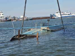 Первая палуба «Булгарии» приподнята над водой на 3 метра