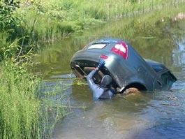В Удмуртии вместе с машиной утонули две девушки