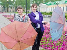 На смену жаре в Ижевск идут грозы и похолодание
