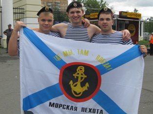 Ижевские моряки бурно отмечают день военно-морского флота