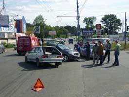 В Ижевске в лобовую сошлись ВАЗ и Toyota с молодыми водителями