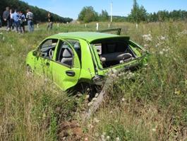 ДТП в Удмуртии:  Автомобилю Cherry  вырвало колеса