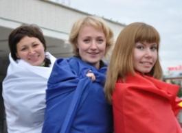 Ижевчане сотворили «живой» флаг России