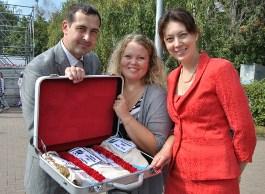 В Ижевск доставили знамя Универсиады-2013