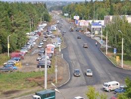 В Ижевске за неделю отреставрировали Славянское шоссе
