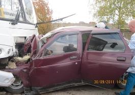 ДТП c автобусом в Удмуртии: три человека погибли