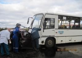 Подробности ДТП c автобусом в Удмуртии: ВАЗ выехал на «встречку»