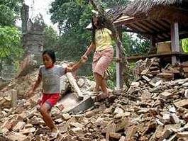 Землетрясение на Бали вызвало панику среди населения