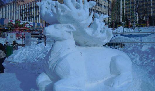 Фотофакт: конкурс снежных фигур прошел в Ижевске