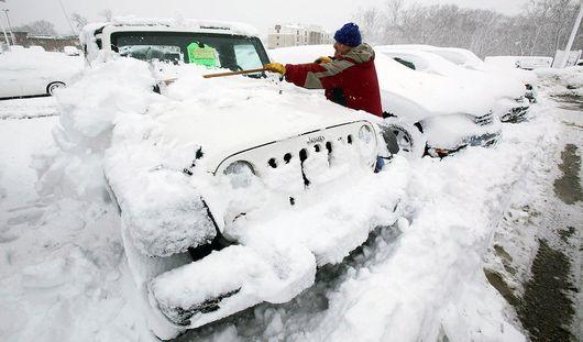Сильнейший за последние 100 лет снегопад обрушился на США