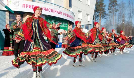 В Ижевске состоялись ежегодные соревнования по лыжным гонкам «Ижевская лыжня 2013»