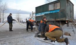 Порыв водопровода произошел на улице Совхозной в Ижевске
