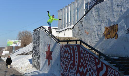 Сноубордист из Мурманска покоряет ижевские улицы