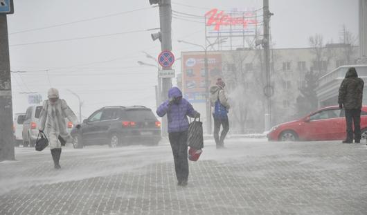 На Ижевск надвигается метель: горожанам рекомендуют быть осторожными