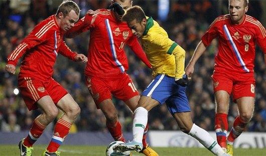 Российские футболисты могли выиграть у Бразилии