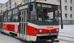Движение трамваев остановилось в центре Ижевска
